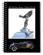 1930 Rolls Royce Mascot And Car Spiral Notebook
