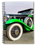 1930 Willys Knight 66b-plaidside Spiral Notebook