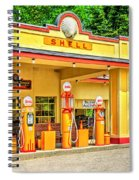 1930s Shell Gas Station Spiral Notebook