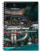 1931 Teal Chevy Hot Rod Motor Spiral Notebook
