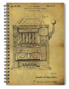1932 Slot Machine Patent Spiral Notebook