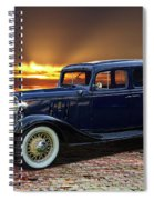 1933 Chevrolet 4 Door Eagle Sedan Spiral Notebook