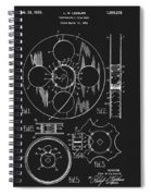 1933 Film Reel Patent Spiral Notebook
