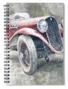 1934 Walter Standart S Jindrih Knapp 1000 Mil Ceskoslovenskych Winner  Spiral Notebook
