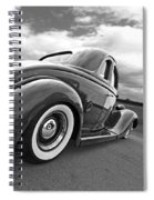 1935 Ford Coupe In Black And White Spiral Notebook