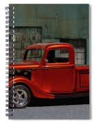 1935 Ford Pickup Parked At Garage Spiral Notebook
