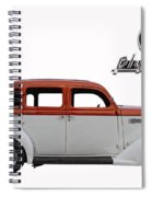 1935 Plymouth With Insignia Spiral Notebook