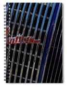 1935 Pontiac 2 Door Sedan Grill Logo Spiral Notebook