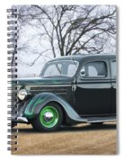 1936 Ford Deluxe Sedan I Spiral Notebook