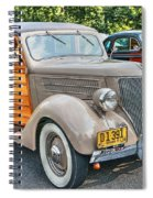 1936 Ford V8 Woody Station Wagon Spiral Notebook