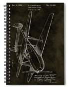 1936 Tandem Motored Biplane Spiral Notebook