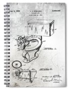 1936 Toilet Bowl Patent Antique Spiral Notebook