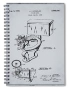 1936 Toilet Bowl Patent Antique Gray Spiral Notebook