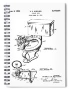 1936 Toilet Bowl Patent Spiral Notebook