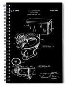 1936 Toilet Bowl Patent Black Spiral Notebook