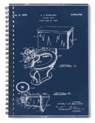 1936 Toilet Bowl Patent Blue Spiral Notebook
