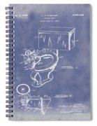 1936 Toilet Bowl Patent Blue Grunge Spiral Notebook