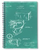 1936 Toilet Bowl Patent Green Spiral Notebook