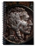 1937 Buffalo Nickel Spiral Notebook