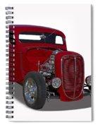 1937 Ford Truck Hot Rod Spiral Notebook