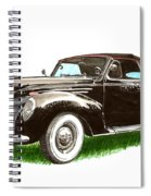1937 Lincoln Zephyer Spiral Notebook