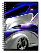 1937 Striped Coupe Spiral Notebook