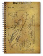 1938 Battleship Patent Spiral Notebook