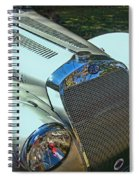 1938 Delage D8 - 120 Aerodynamic Coupe Front Grill Spiral Notebook