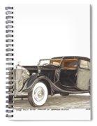 1938 Rolls Royce Phantom I I I Sedanca Deville Spiral Notebook
