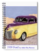 1939 Ford Deluxe Street Rod Spiral Notebook