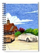 1939 Lincoln Zephyr  Family Home Spiral Notebook