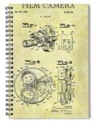 1940 Film Camera Patent Spiral Notebook