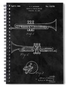 1940 Trumpet Patent Illustration Spiral Notebook