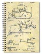 1941 Bulldozer Patent Spiral Notebook