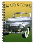 1941 Mercury Eight Convertible Spiral Notebook