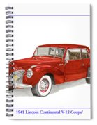 1941 Mk I Lincoln Continental Spiral Notebook