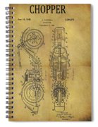 1942 Chopper Motorcycle Patent Spiral Notebook