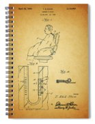 1943 Barber Apron Patent Spiral Notebook