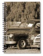1946 Dodge In Sepia Spiral Notebook