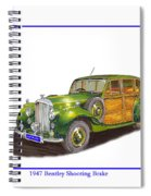 1947 Bentley Shooting Brake Spiral Notebook