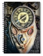 1947 Knucklehead Speedometer Spiral Notebook
