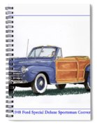 1948 Ford Sportsman Convertible Spiral Notebook