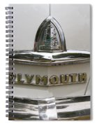 1948 Plymouth Hood Logo Spiral Notebook