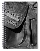 1950 Chevrolet Truck Emblem Black And White Spiral Notebook