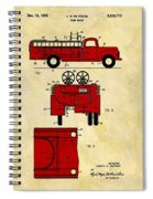 1950 Red Firetruck Patent Spiral Notebook