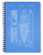 1950 Surfboard Patent Spiral Notebook