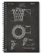 1951 Basketball Net Patent Artwork - Gray Spiral Notebook