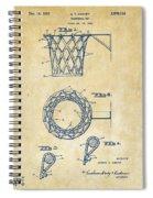 1951 Basketball Net Patent Artwork - Vintage Spiral Notebook