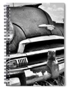 1951 Chevrolet Power Glide Black And White 3 Spiral Notebook