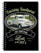 1951 Ford Truck Shields Spiral Notebook